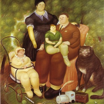 family-scene-botero